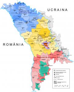 Карта адміністративного поділу Молдови
