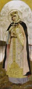 Княгиня Ольга. Худ. М.В.Нестеров, 1982. Ескіз розпису Володимирського собоу в Києві