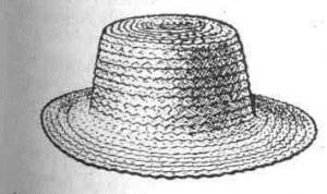 Жіночий капелюх з рівними крисами