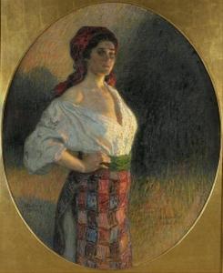 М.П. Богданов-Бєльський. Молода відьма.