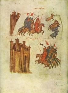Руські воїни. Мініатюра з літопису