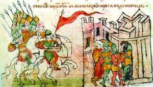 Зображення списів на мініатюрі Радзивілівського літопису