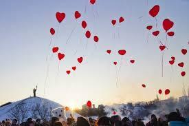 Запуск повітряних кульок у парку «Долина троянд», Черкаси