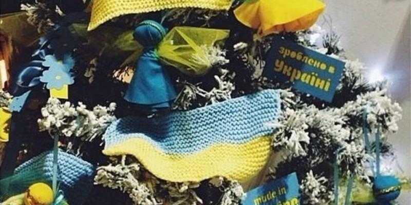 Новорічна ялинка в українському стилі