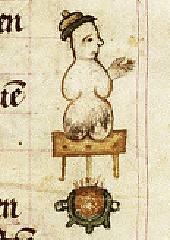 Найбільш раннє зображення сніговика. Часослов, 1380 р.