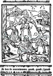 Танець навколо сніговика. Манускрипт, 1511 р.