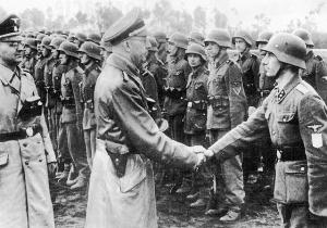 """Гіммлер з візитом в дивізії СС """"Галичина"""""""