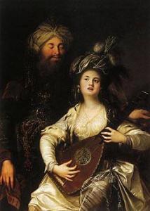 Роксолана та султан. Антон Хікель, 1780