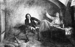 Петро І та гетьман Полуботок