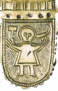 Малюнок з пряжки пояса, знайденого в Микульчице