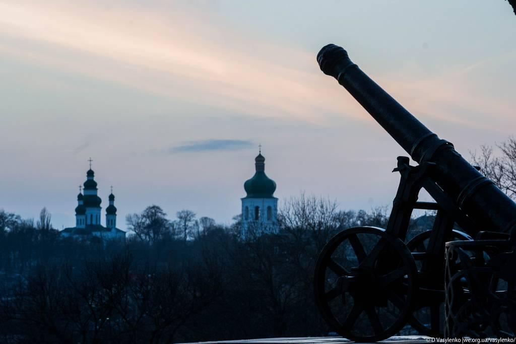 зимовий закат в Чернігові
