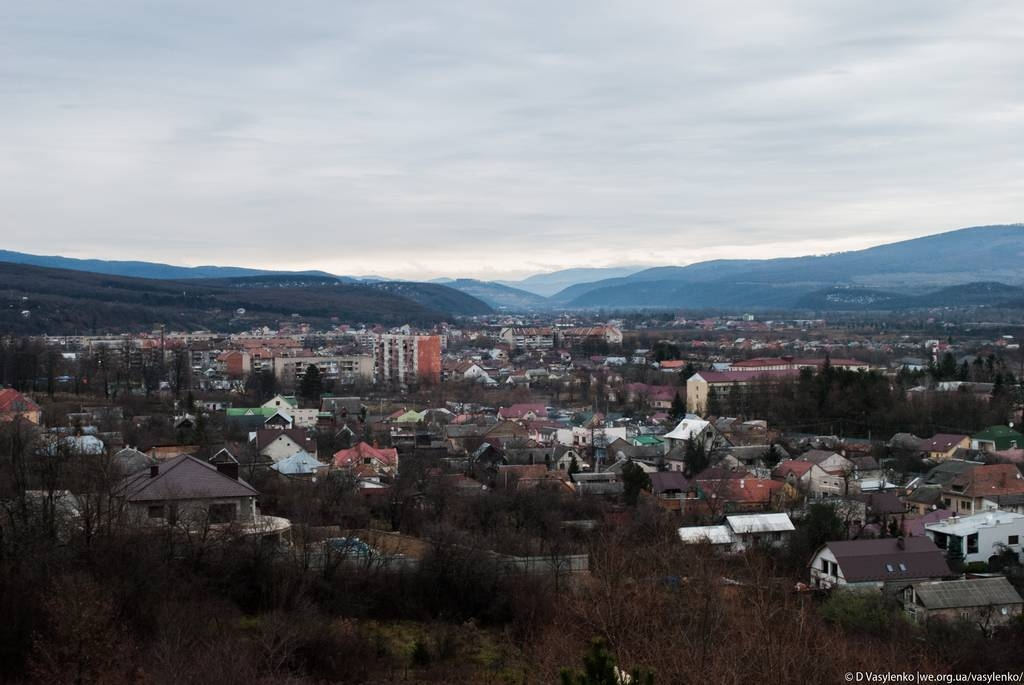 Пейзаж зі стін Ужгородського замку