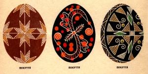 Традиційні писанкові розписи із Західної України