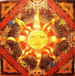 Сонце гуцули уявляли правою половиною божого обличчя