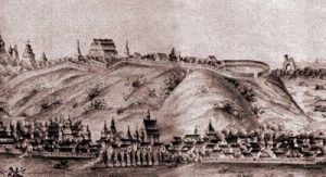 Замкова гора. Гравюра Вестерфельда 1651 року