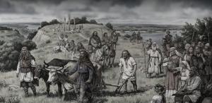 Князь Кий захищає фортецю Києвець на Дунаї